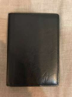 Giuseppe Zanotti black leather passport case (連盒)