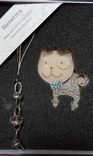 珍藏限量版成人八達通水晶吊飾-猫咪款