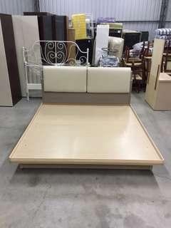 白橡色雙人加大掀床 橡木色床頭片