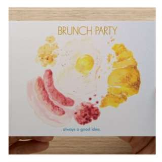Brand new brunch party postcard gift tags birthday anniversary