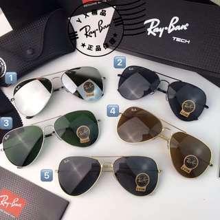 RayBan 雷朋 经典款 RB3025 RB3026 蛤蟆鏡 飛行官式太陽眼鏡 墨鏡 男女款 百搭單品