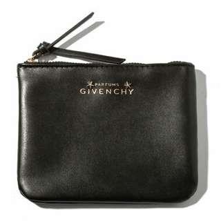 全新Givenchy黑色星星拉鏈收納袋散紙包銀包