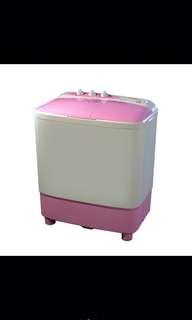 Brand new pink camel twin tub washing machine