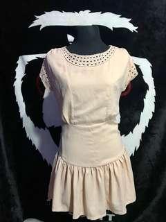 NUDE korean Dress (bought from korea)