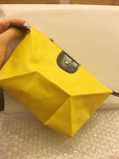 化妝袋 綠色 黃色