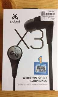 全新Jaybird X3 有單 一年保養(6月5日開始) $850 - 香港