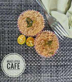 Healthy Homemade Calamansi Muffins (Less-Sugar, sweetened with Stevia)