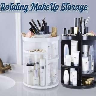 (J)360 Degree Rotating MakeUp Storage