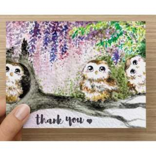 brand new thank you gift greeting card present