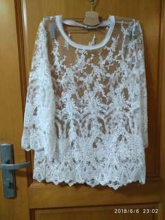 White Lace Top 韓國