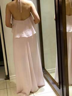 CHIFFON GOWN POWDER PINK