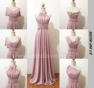 Infinity Dress in nude