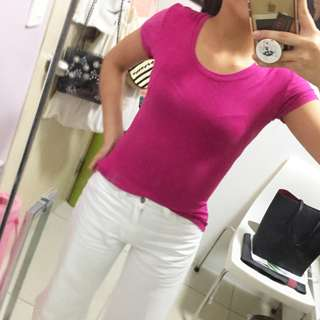 Purple Fitted T-Shirt