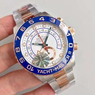 面交驗貨 終身保養     Rolex Yacht Master 116681 44mm 18k玫瑰金 JF 廠 新版