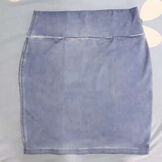 COTTON ON WASHED DENIM SKIRT EXTRA SMALL