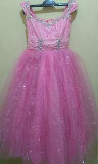 Pink Galaxy Theme Gown for Girls Ages 7-9