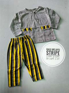 Baju Melayu Stripe