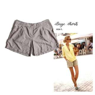 NEW Orsay beige shorts