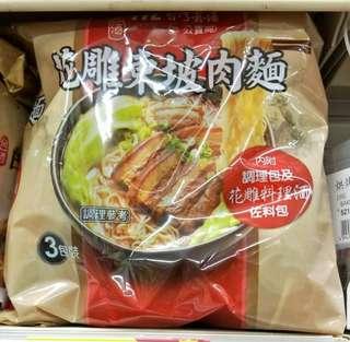 [台灣熱門美食現貨] 新出口味!!花雕東坡肉即食麵