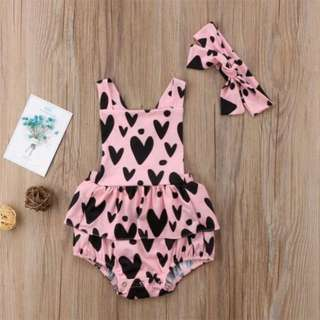 Valentine Infant Newborn Baby Girls Romper Jumpsuit Bodysuit Kid Clothes Outfits