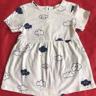 Zara Cloud Printed Dress