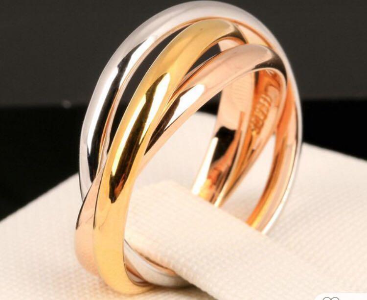 3 Colour  Cartier Love Ring