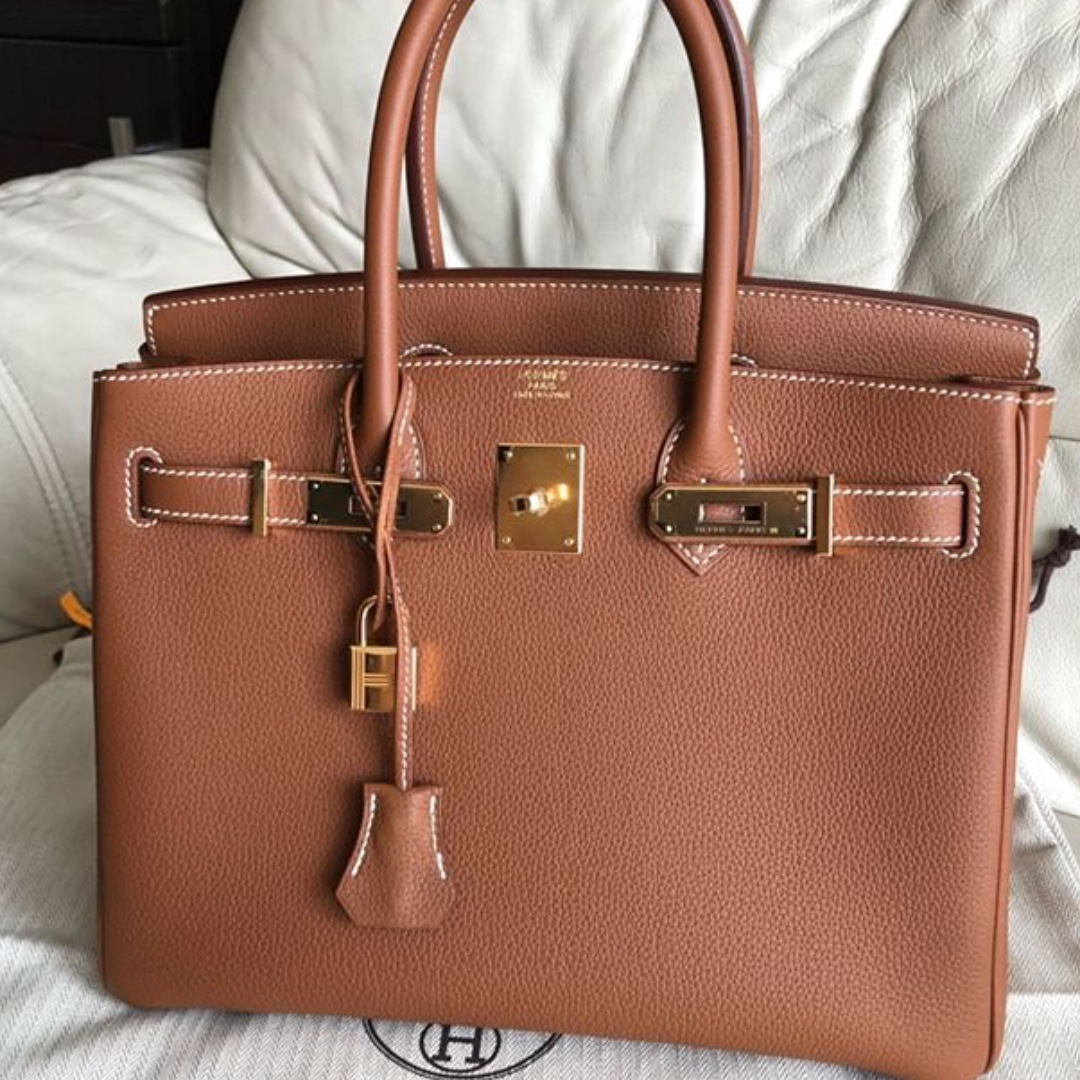 a769fc5fa9 Authentic Hermes birkin 30 gold togo ghw stamp C