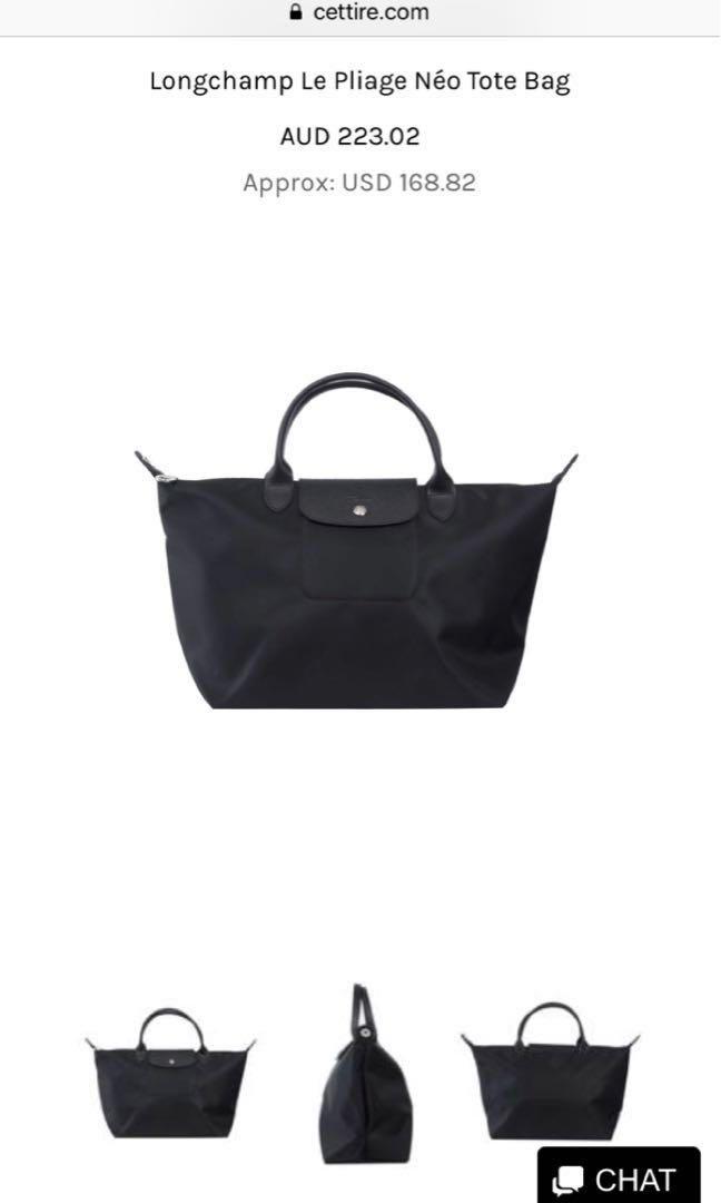 authentic longchamp black bag 25b41f7d90f40