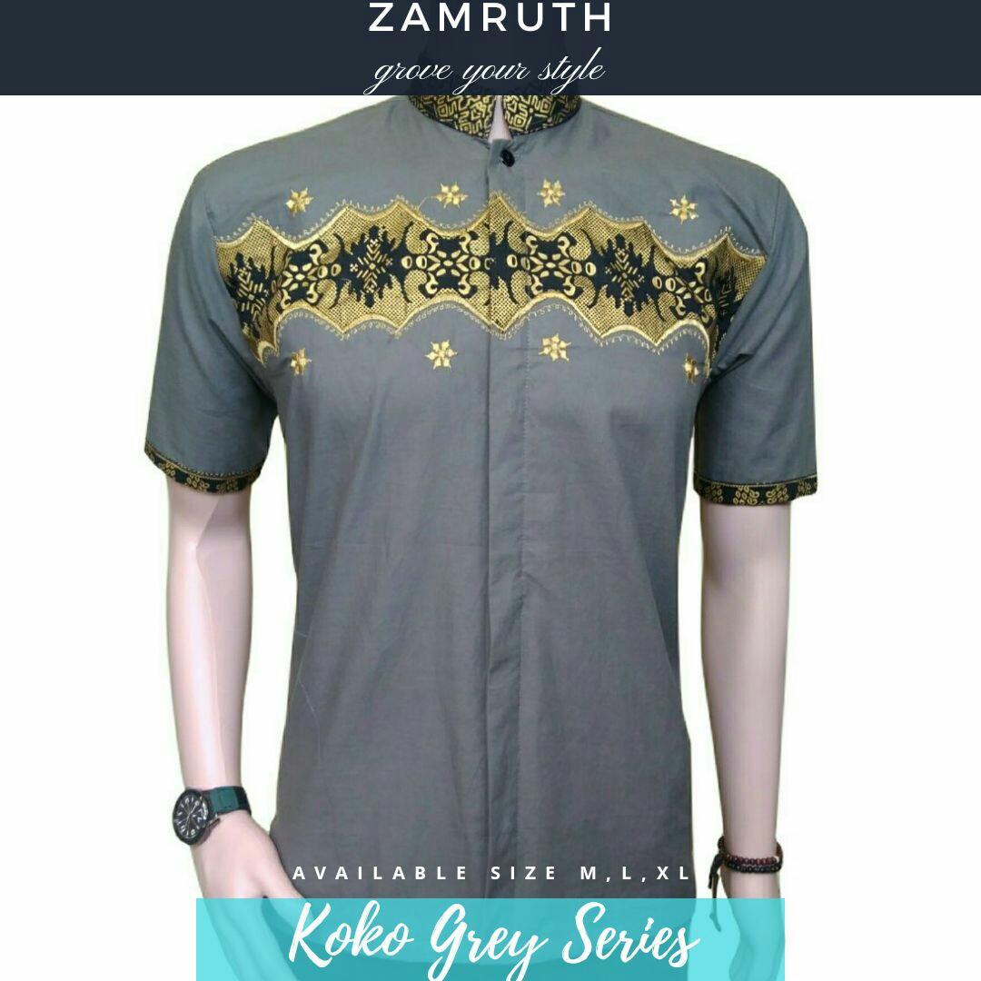Baju Koko Batik Pria Lengan Pendek Zaman Now Mens Fashion Grey M Clothes On Carousell