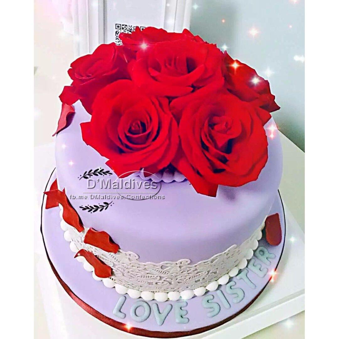 birthday cake for sister food drinks baked goods on carousell