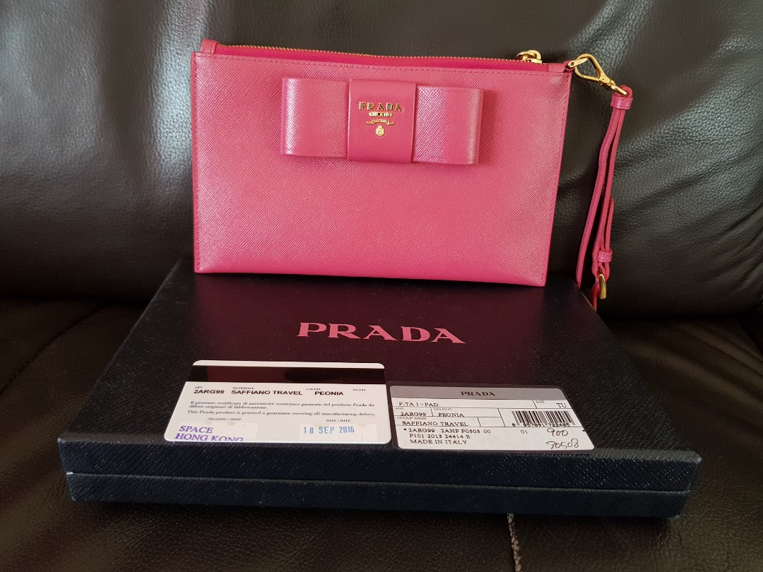 059af5e0ccdd Brand new Prada leather wristlet