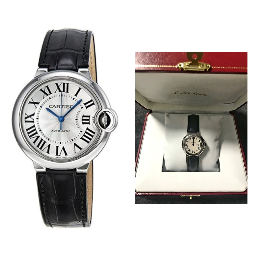 98b17a733dbc Cartier Ballon Bleu Automatic Silver Dial Stainless Steel Black ...