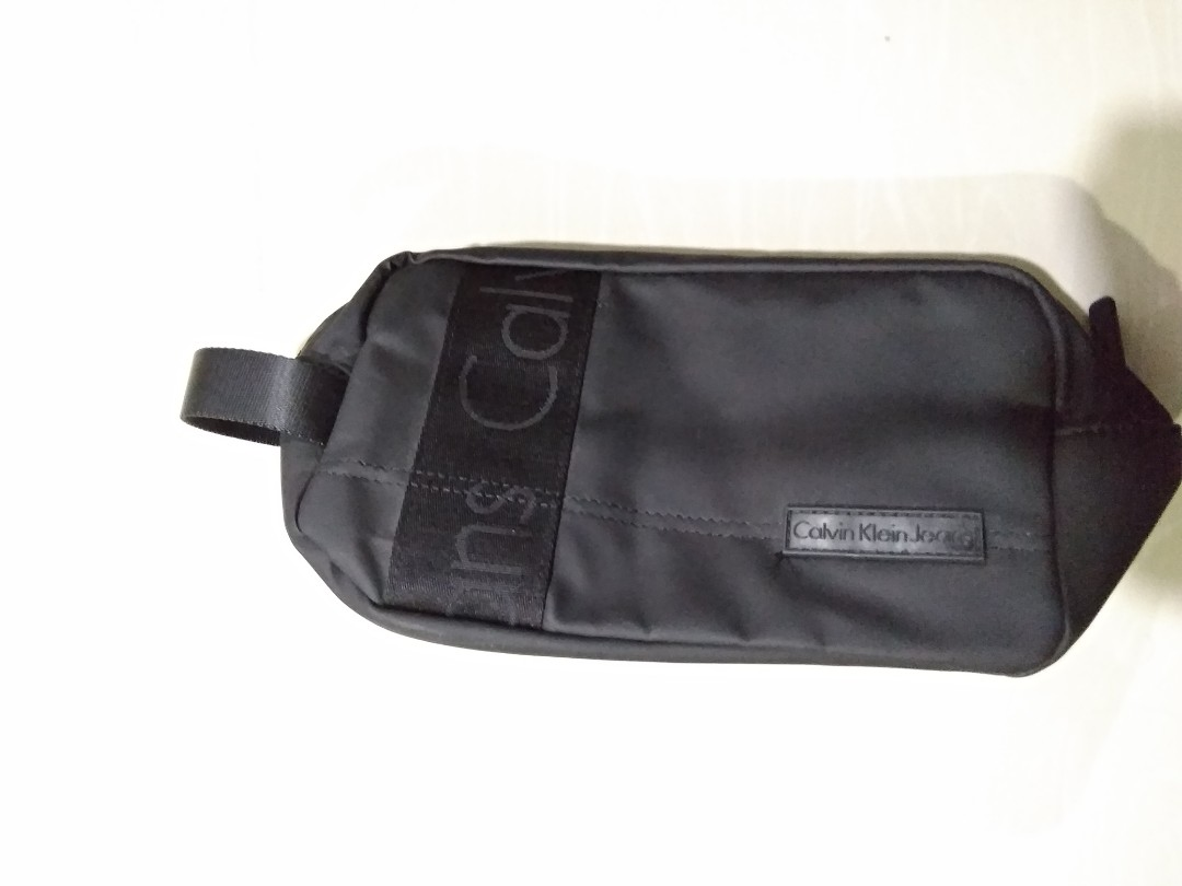 31b93e3c80 CK jeans Men s Black Toiletry Bag Pouch Wash Bag