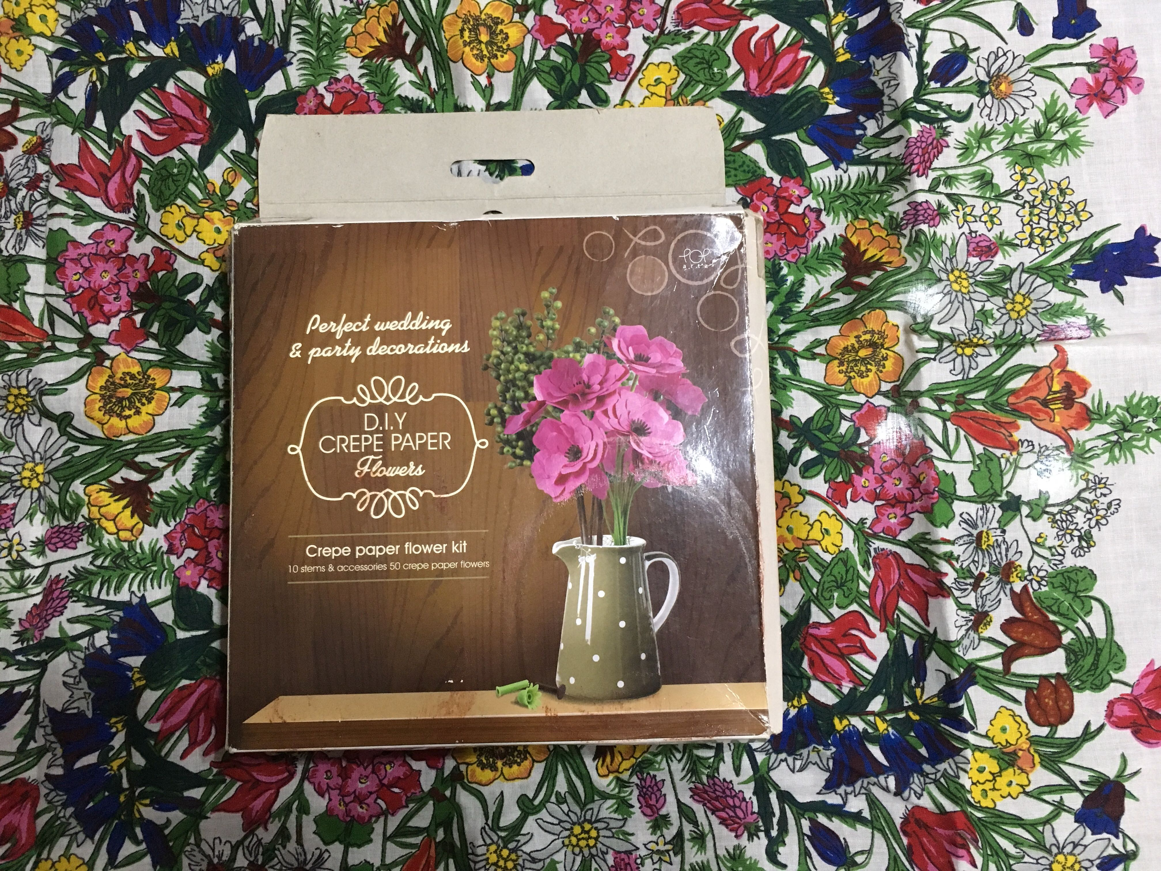 Diy Crepe Paper Flowers Blessing Design Craft Craft Supplies