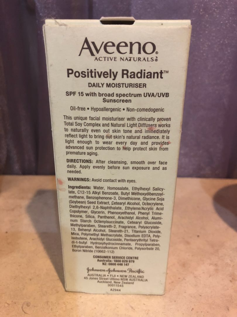 Facial day moisturiser with spf
