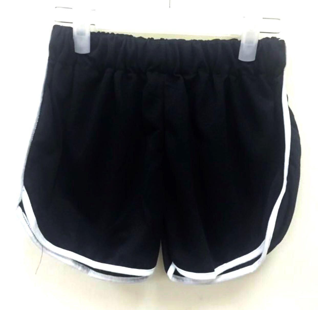 35a982e11a FIRE SALE   Black Trimmed Runner Shorts, Women's Fashion, Clothes ...