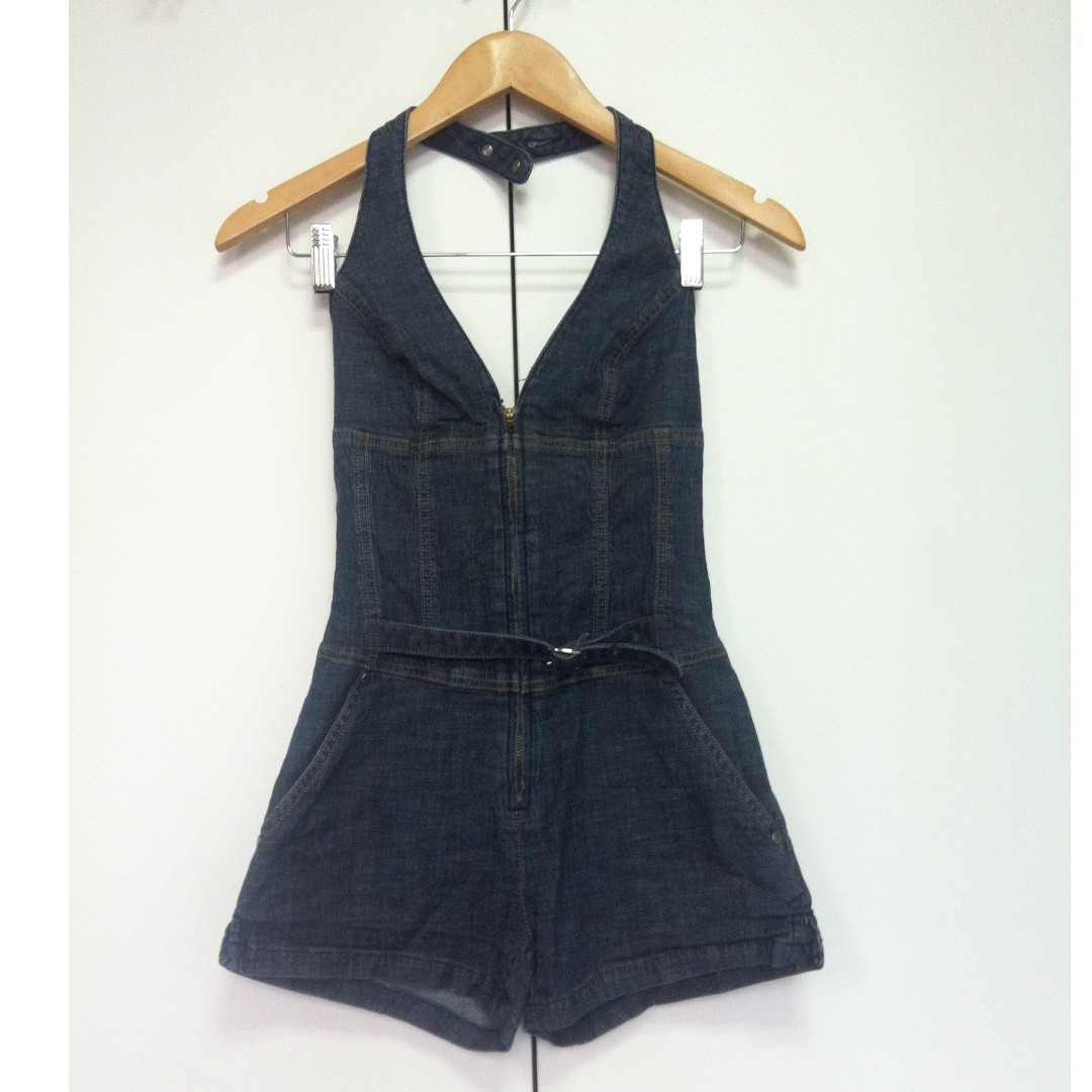 663781dc6e2a Guess short denim jumpsuit with zip