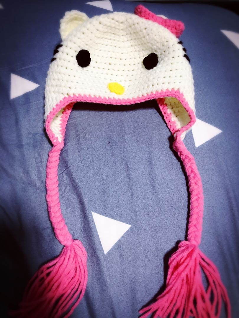 Handmade Crochet Hello Kitty Hat Design Craft Handmade Craft On