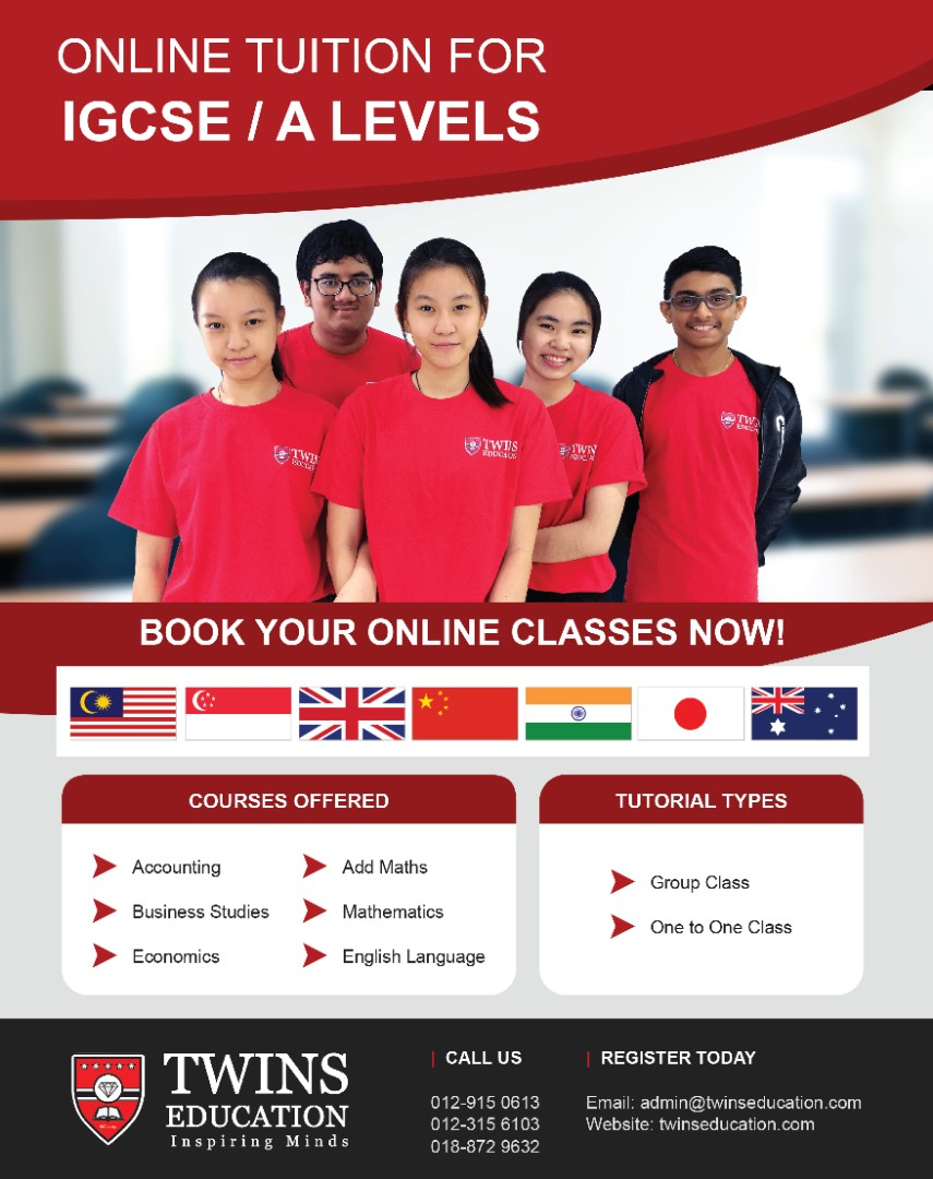 IGCSE / A-Levels Online Tuition, Services, Tuition di Carousell