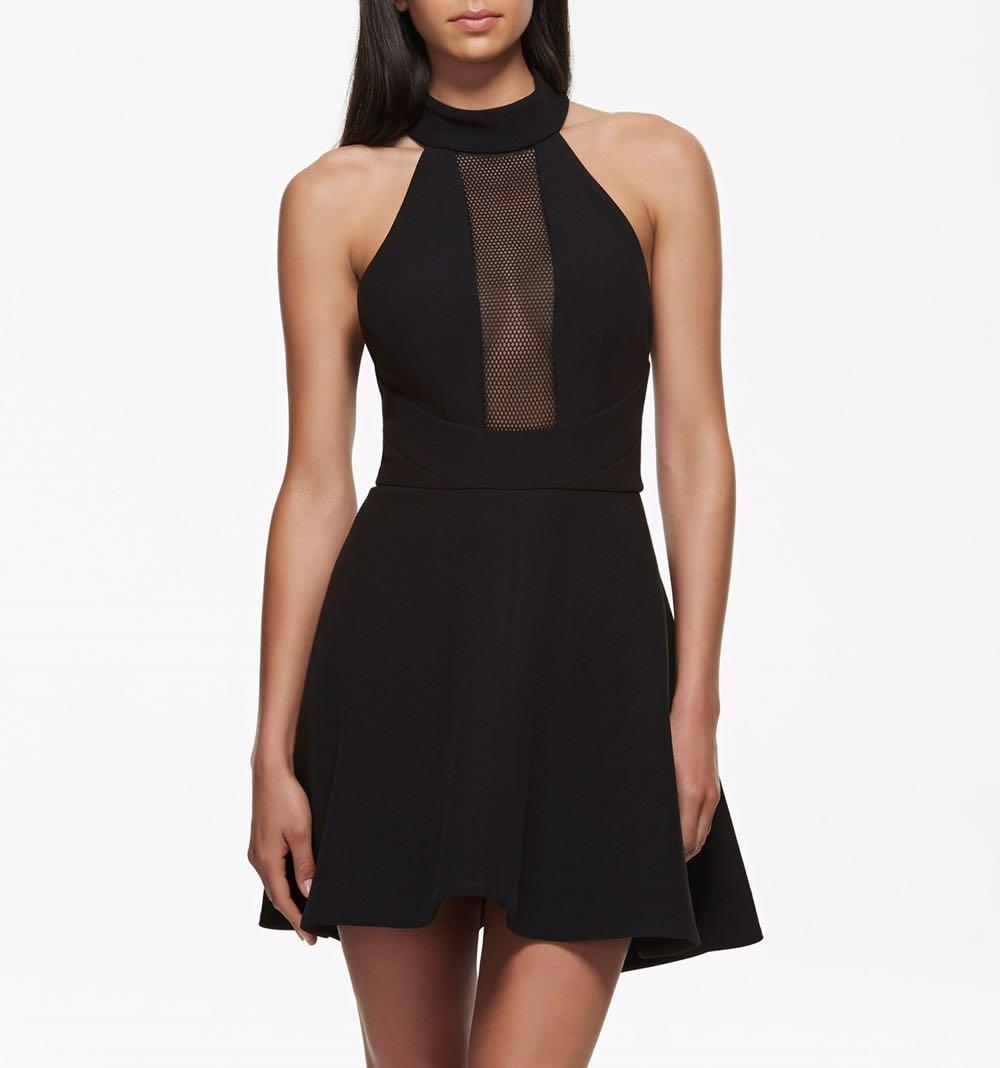 Kendall + Kylie collection black mesh skater dress