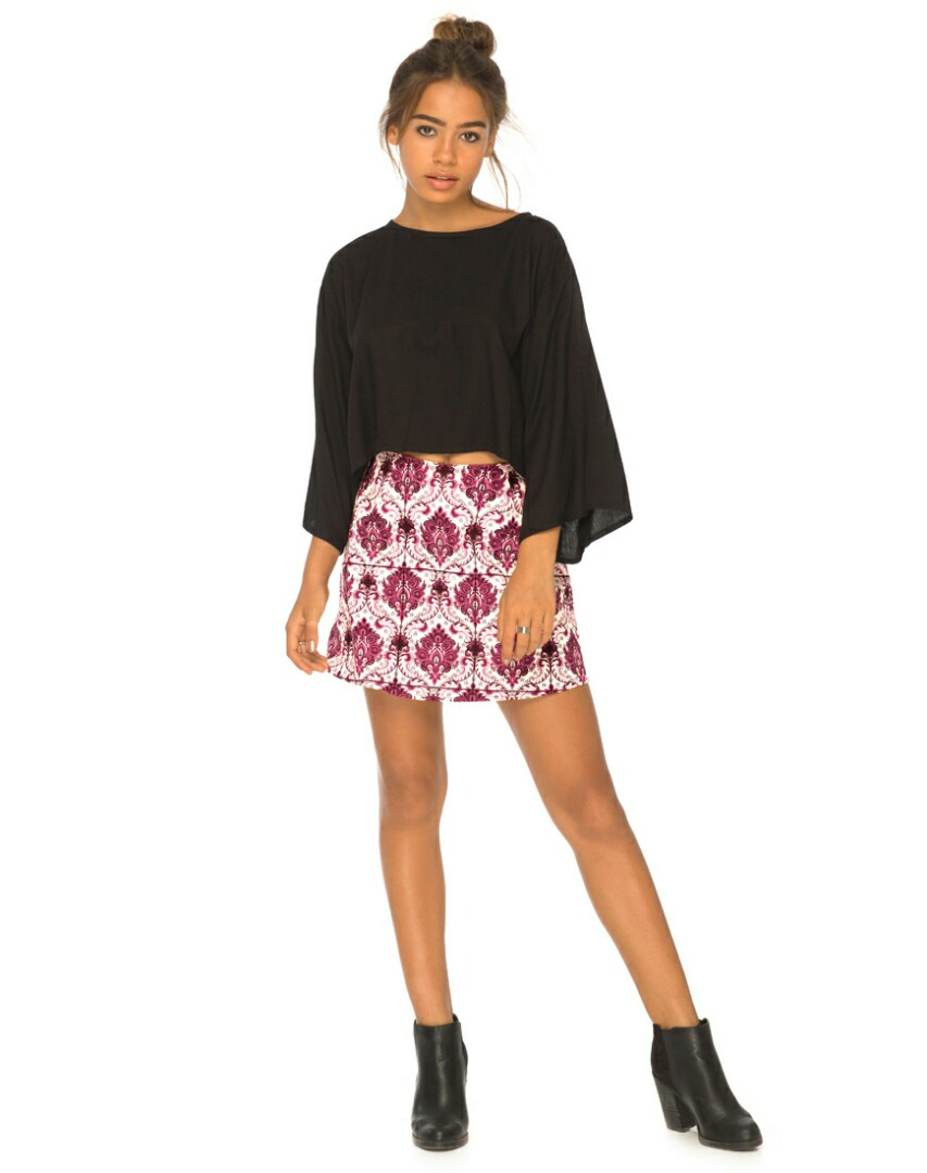 d2138c5f3c Motel rocks a line skirt in santorini berry print asos uk10 ...