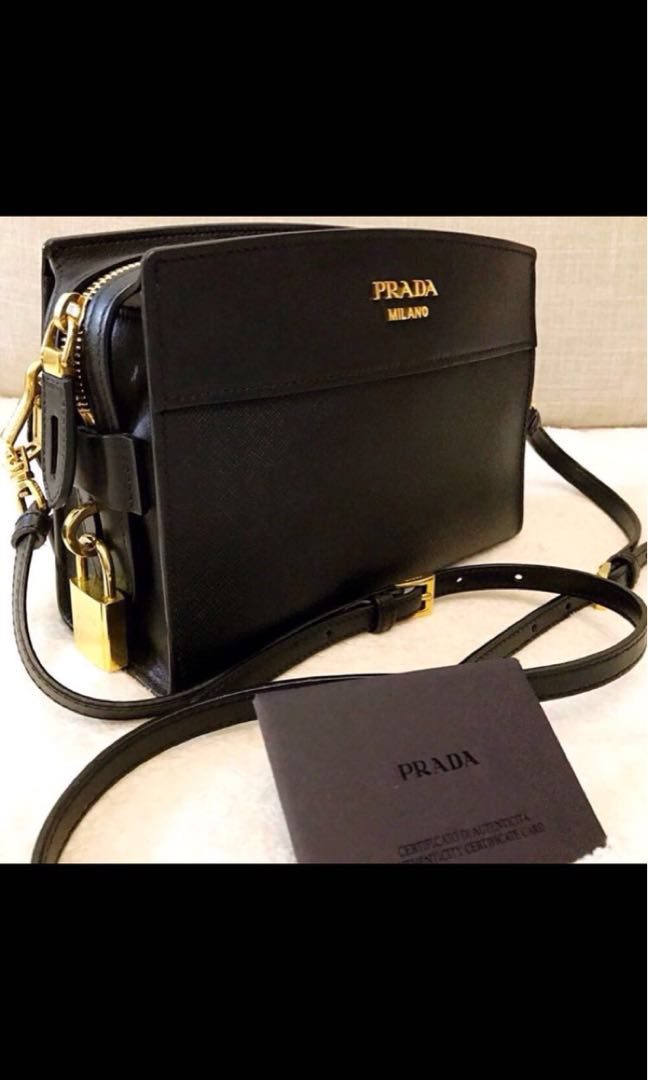 7319384d35a8 Prada Bandoliera Leather Crossbody Bag, Luxury, Bags & Wallets, Sling Bags  on Carousell