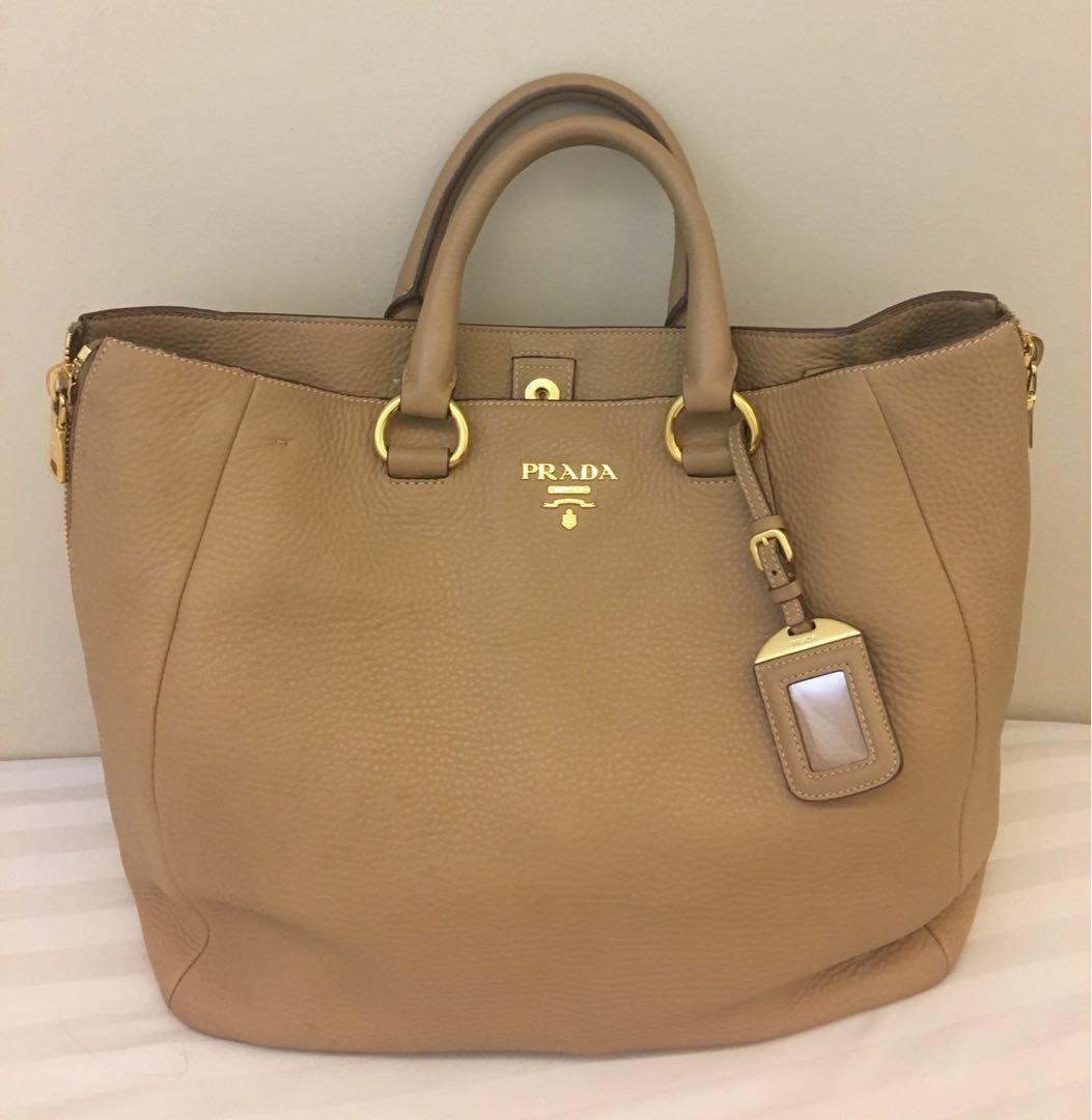 d98e19c73b35 Prada Vitello Daino, Luxury, Bags & Wallets, Handbags on Carousell
