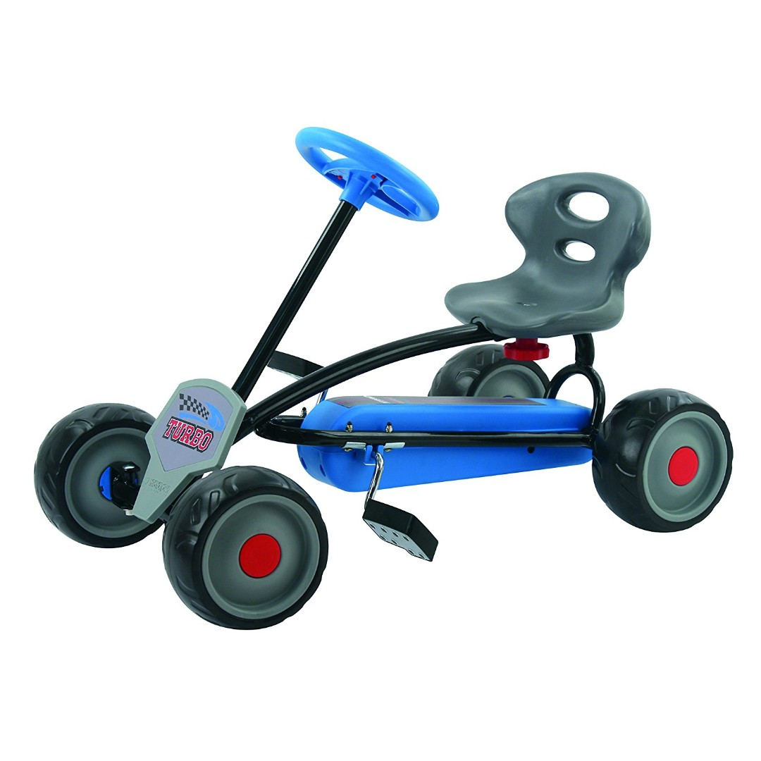 PRE-ORDER: Hauck Lil'Turbo Pedal Go Kart, Blue
