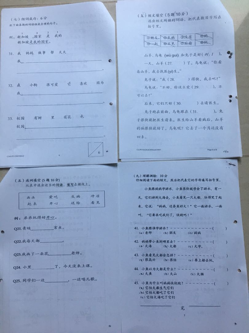 Primary 1 P1 Top Schools English Maths Chinese Exam Papers, Books ...