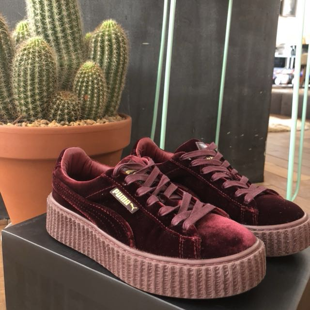 the latest 8c49e 42ce8 PUMA FENTY VELVET CREEPERS, Women's Fashion, Shoes on Carousell