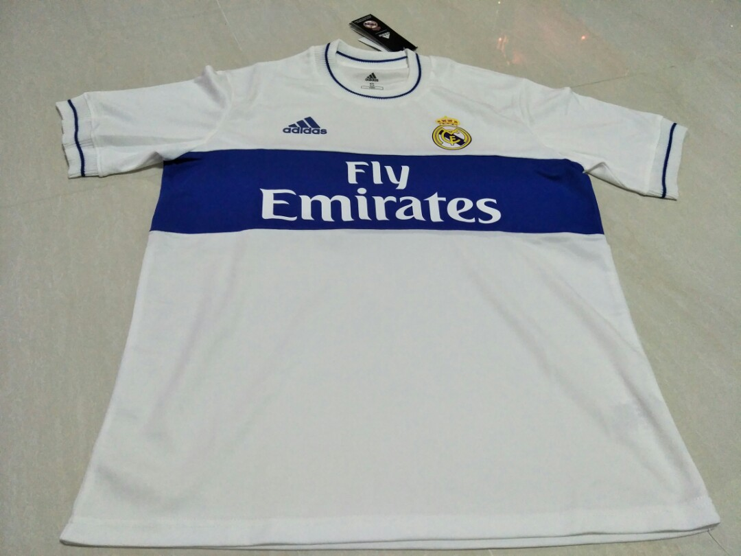 new concept a7b0b cf178 Real Madrid Retro 2018 Kit, Sports, Sports Apparel on Carousell