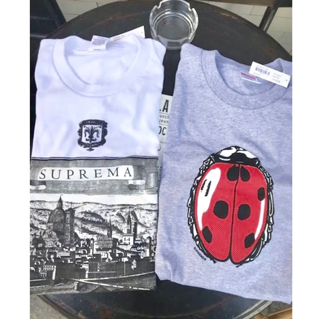 ba8d7a910 Supreme SS18 Ladybug Tee, Men's Fashion, Clothes on Carousell