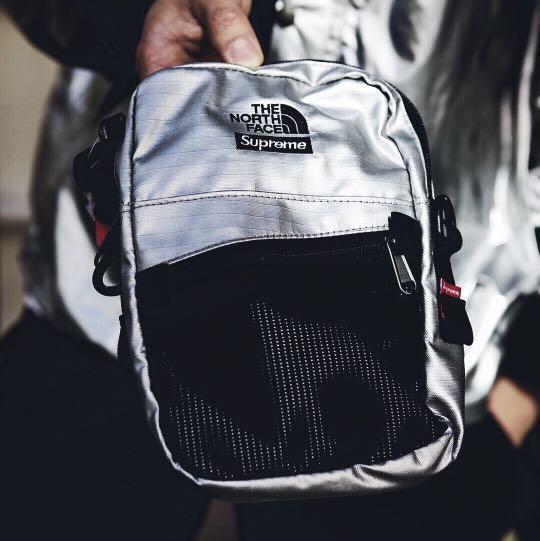f373cbbe Supreme SS18 The North Face Metallic Shoulder Bag, Men's Fashion ...