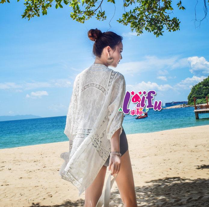 .°。.☆小婷來福*.。°V199外套遊米泰罩衫沙灘外套可內搭游泳衣泳裝比基尼遮陽,售價599元